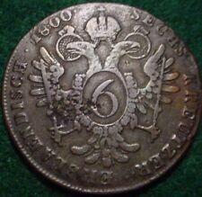 1800*S* LARGE COPPER 6 KREUZER EMPIRE OF AUSTRIA**NICE DETAILS*