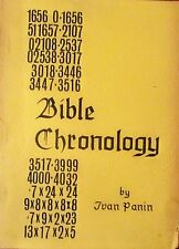 BIBLE CHRONOLOGY: IN THREE PARTS, Ivan Panin, 1st Edition, 1st Printing, 1950