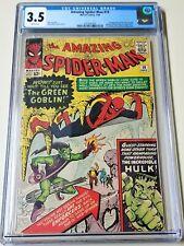 Amazing Spider-Man #14 CGC 3.5 1st app Green Goblin Norman Osborn HTF WP 1964 🔥
