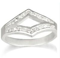 Real Silver & Cubic Zirconia Ring - Size 6/L-M - NEW RRP £20