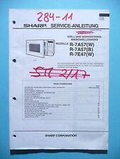 Service manual manual for Sharp R-7A57/R-7E47,ORIGINAL