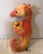 Wild Republic Seahorse with Baby Seahorses Plush Stuffed Orange