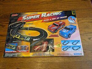 ARTIN SUPER RACING SLOT CAR PICKUP TRUCK HOT ROD NASCAR RACE TRACK SET BOX VTG