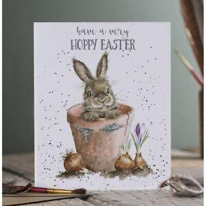 New Wrendale Design Happy Easter Greeting Card - blank inside