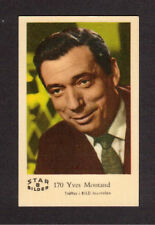 Yves Montand Vintage Card from Sweden #B170