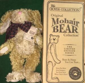 BOYDS The Mohair Bear Collection 1998 Martha T Bunnycombe Rabbit MIB #590140-03