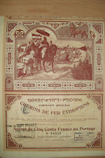 Chemins de Fer Ethiopiens  Paris  1899    Hochdeko