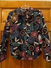 NEW WOMENS REDD Jeans Black Embellished shirt SIZE 8 Cotton/Spandex