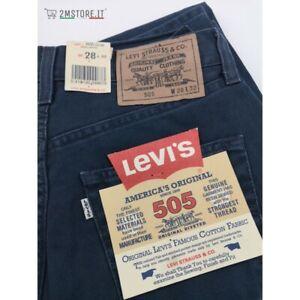 LEVI'S Jeans Levis 505 Bedford Cord Bleu Marine Coupe Regular Droit Original Cru