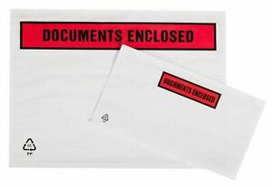 DL Documents Enclosed Envelopes Wallets Printed Self Adhesive 10 20 50 100 1000