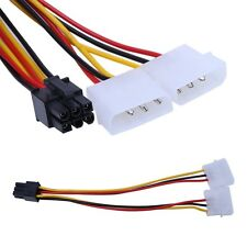 10Pcs 6-Pin PCI-E PCI Express Power Cable to Dual 4-Pin Male Molex Connector