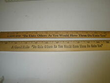"2 vintage advertising ruler 12"" Coca Cola rulers- Do Unto Others-the Golden Rul"