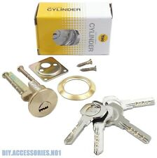 YALE 4 Keys Rim Cylinder  Dimple 6 Pins - Replacement Door Lock Nightlatch Latch
