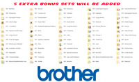 BROTHER SETS 1- 66 EMBROIDERY DESIGNS IN PES,HUS,JEF,VP3 & DST MACHINES DOWNLOAD