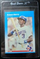 1987 FLEER #138 RUBEN SIERRA ROOKIE CARD RC TEXAS RANGERS MINT