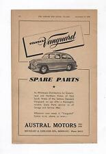 Standard Vanguard Austral Original Advertisement removed from a 1950 Magazine
