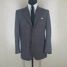 DAVIDE CENCI  ITALY DONEGAL TWEED SPORT COAT 3 BTN. SIDE VENTS 38R-FIT 40 R