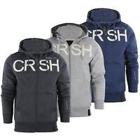 Crosshatch Cale Mens Hoodie Zip Up Hooded Jacket Pullover Jumper Sweatershirt