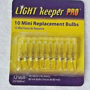 10 Clear Light Keeper Pro 12 Volt Christmas Replacement Tree Topper Light Bulbs