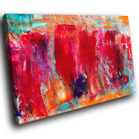 AB1069  red blue orange pink Retro Abstract Canvas Wall Art Large Picture Prints