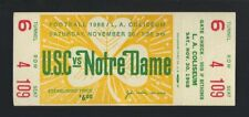 VINTAGE 1968 NCAA NOTRE DAME FIGHTING IRISH @ USC TROJANS FOOTBALL FULL TICKET