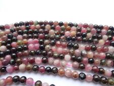 4mm Round Watermelon Tourmaline Semi Precious Gemstone Beads - 45 Beads