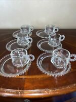VINTAGE IMPERIAL SNACK PLATES WITH HAZEL ATLAS SNACK CUPS