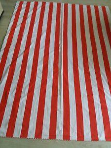 MARIMEKKO cotton striped red&white single duvet cover
