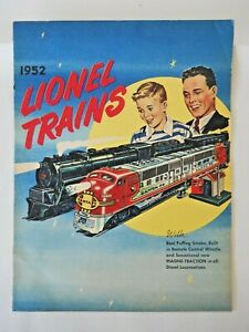 1952 Lionel Distributor Pulp Paper Catalog Unstamped Very Colorful & Near Mint