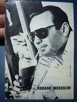 CARTOLINA AUTOGRAFATA DA ROMANO MUSSOLINI - 10.7.1978 -