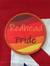Redhead Pride iron-on or sew-on 3 inch patch