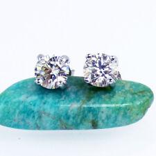 1Carat White Moissanite Diamond 925 Sterling Silver Earrings Studs
