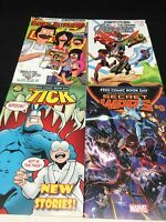 COMIC BOOK FREE COMIC DAY Lot of 4 Bob's Burgers Secret Wars Tick Avengers