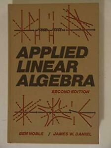Applied Linear Algebra Hardcover Ben Noble