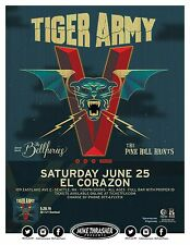 TIGER ARMY / BELLFURIES/PINE HILL HAINTS 2016 SEATTLE CONCERT TOUR POSTER - Punk