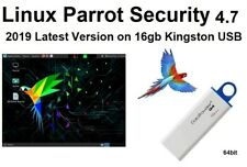 Linux Parrot Security 4.7 Latest Version 2019 on 16 Kingston USB