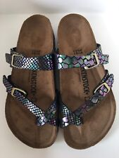 Birkenstock Mayari 1005045 Size 38/L7-7.5 R Shiny Snake Black Multicolor Sandals