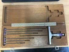 Brown Amp Sharpe Depth Micrometer Set No608 0 6 Range