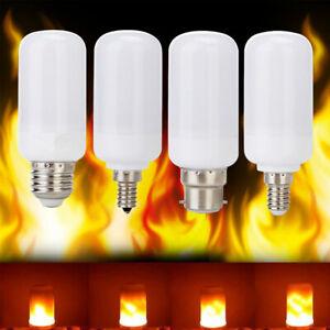 Flicker Flame Fire Effect E12 E14  E26 E27 LED Simulated Light Bulb Decor Lamp