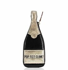 KATE SPADE POP FIZZ CLINK Bubble Over Champagne Bottle Leather Coin Purse Change