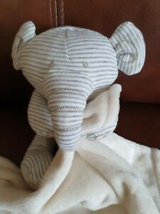 Marks And Spencers Elephant Comforter Blankie ..  Vgc