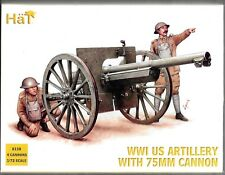 HAT WWI US Artillery Crew with 75mm Cannon (4 Cannons & crew) in 1/72 8158 ST