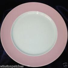 "THOMAS ROSENTHAL SUNNY DAY ROSE LIGHT PINK RIM 10 1/2"" DINNER PLATE GERMANY"