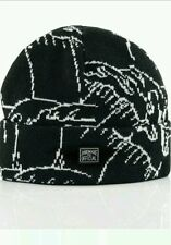 Official Brand one size black white wave Aaron Kai outdoor Beanie Sac city Cali