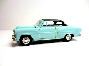 Vintage Model Car Welly 9012 1953 Chevy Chevrolet Bel Air Baby Blue