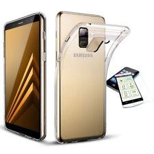 Silikon Transparent + 0,3 H9 Panzerglas für Samsung Galaxy A8 A530F 2018 Tasche