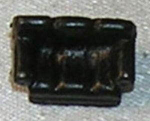 Dollhouse Miniature Mini Matchbox, Living Room Couch, Black