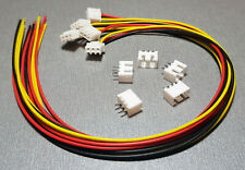1/2/5 MF Sets 3 Pin JST XH2.54 Cable Connector Plug + PCB Socket 300mm 26AWG