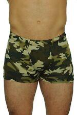 Men Lycra Bike Shorts Camo Running Shorts Swimwear Swim Trunks Camouflage (4602)