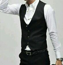 FASHION Uomo Scollo V Slim Fit Gilet Panciotto Giacca Blazer S M L XL
